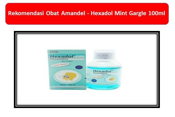 Rekomendasi Obat Amandel Hexadol Mint Gargle 100ml